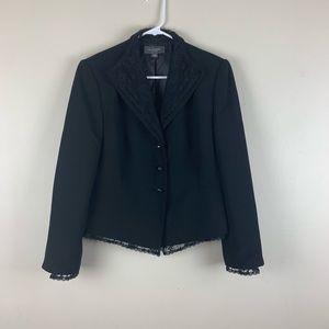Liz Claiborne Womens Black Lace Blazer